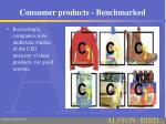 consumer products benchmarked