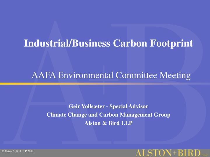 Industrial business carbon footprint