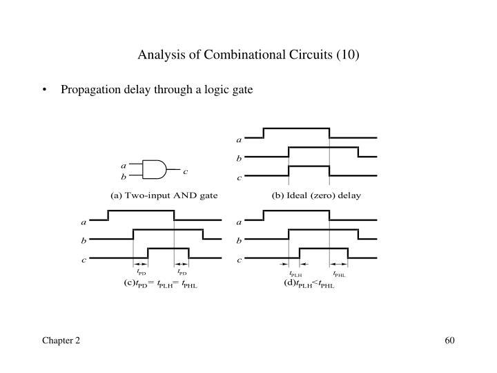 Analysis of Combinational Circuits (10)