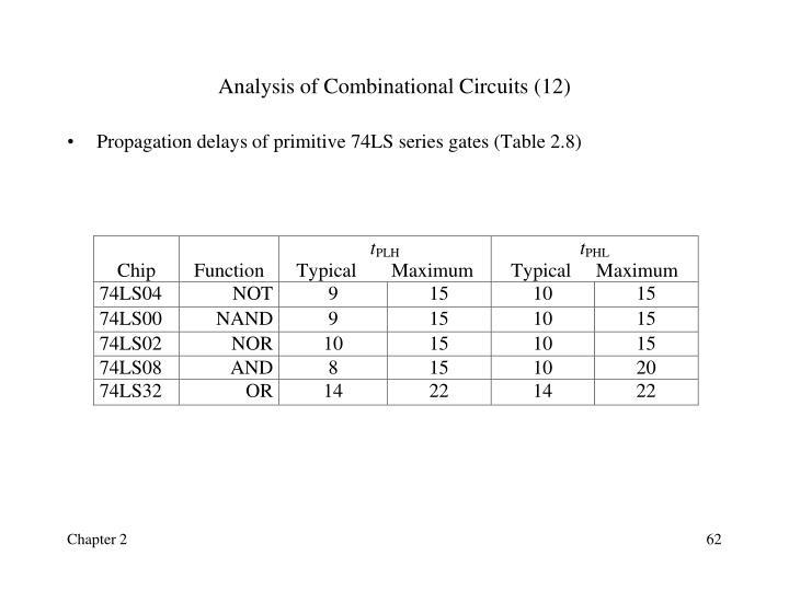 Analysis of Combinational Circuits (12)
