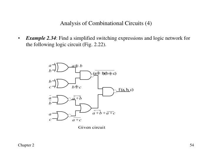 Analysis of Combinational Circuits (4)