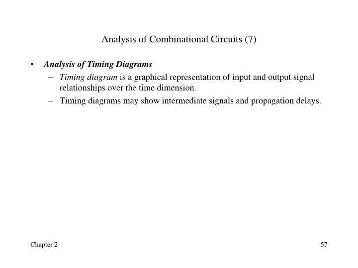 Analysis of Combinational Circuits (7)