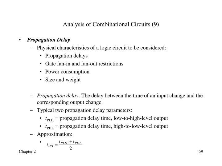 Analysis of Combinational Circuits (9)