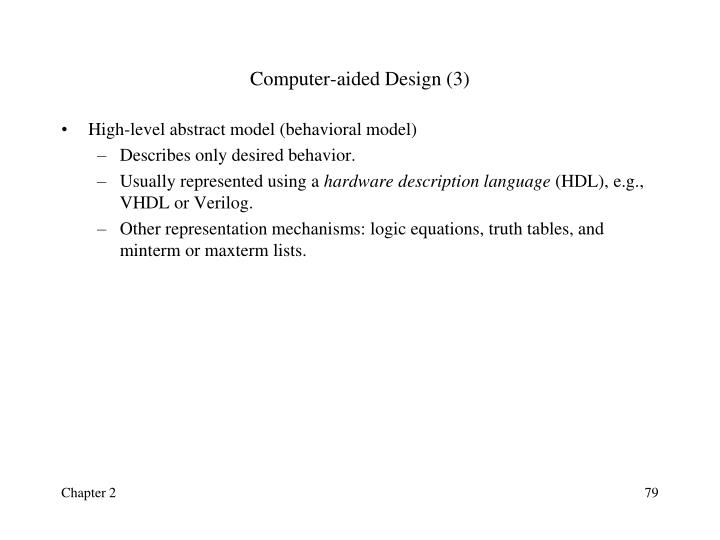 Computer-aided Design (3)