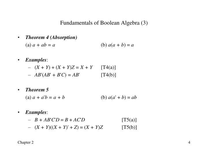 Fundamentals of Boolean Algebra (3)