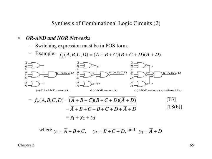 Synthesis of Combinational Logic Circuits (2)