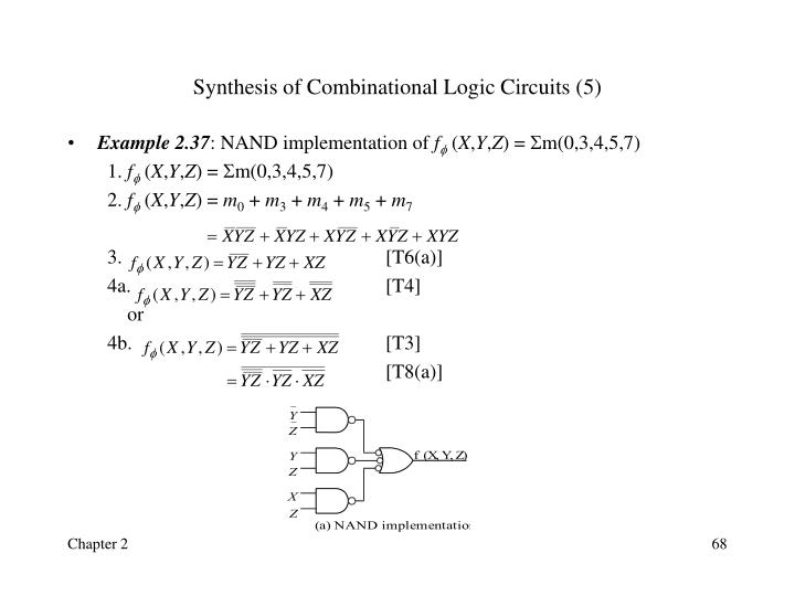 Synthesis of Combinational Logic Circuits (5)