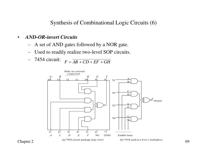Synthesis of Combinational Logic Circuits (6)