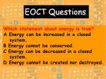eoct questions