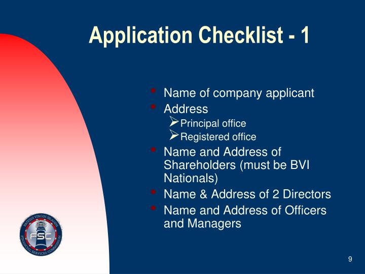 Application Checklist - 1