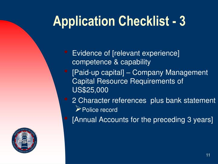 Application Checklist - 3
