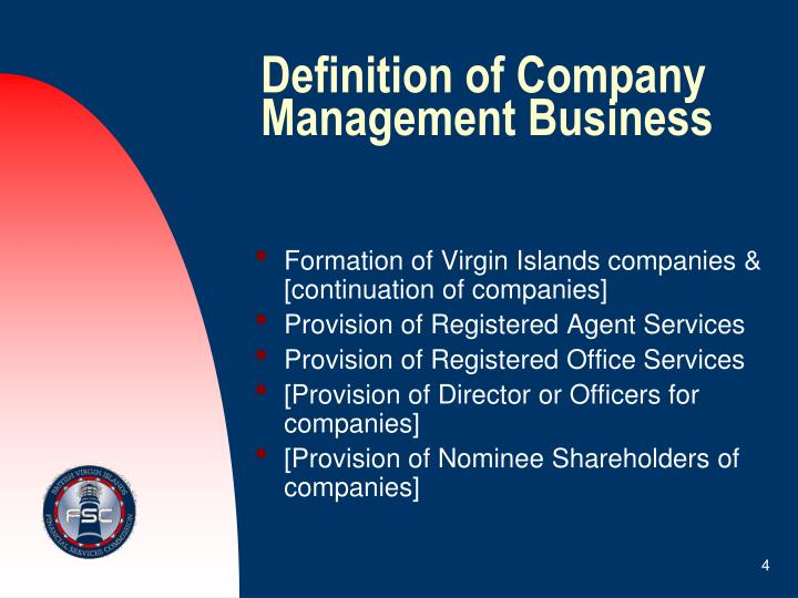 Definition of Company Management Business