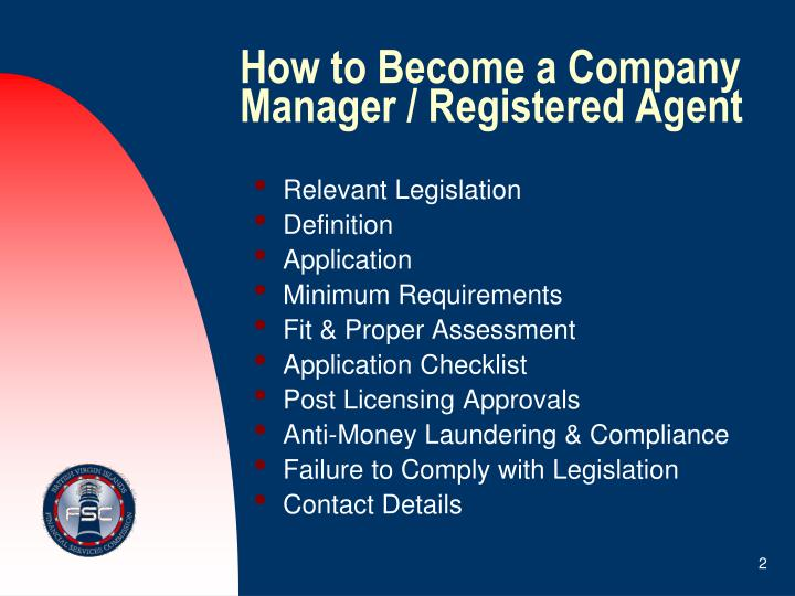 How to become a company manager registered agent