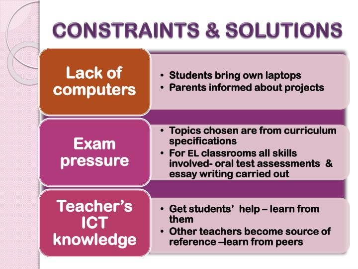 CONSTRAINTS & SOLUTIONS