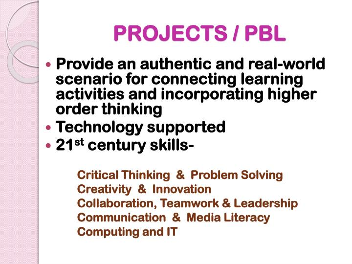 PROJECTS / PBL