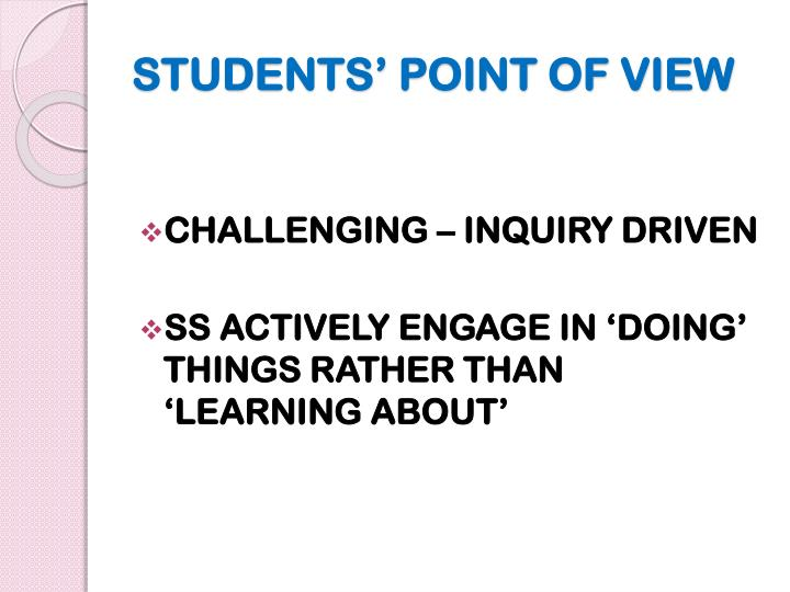 STUDENTS' POINT OF VIEW