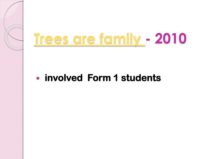 Trees are family