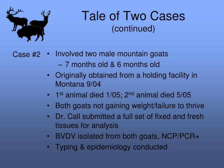 Tale of Two Cases
