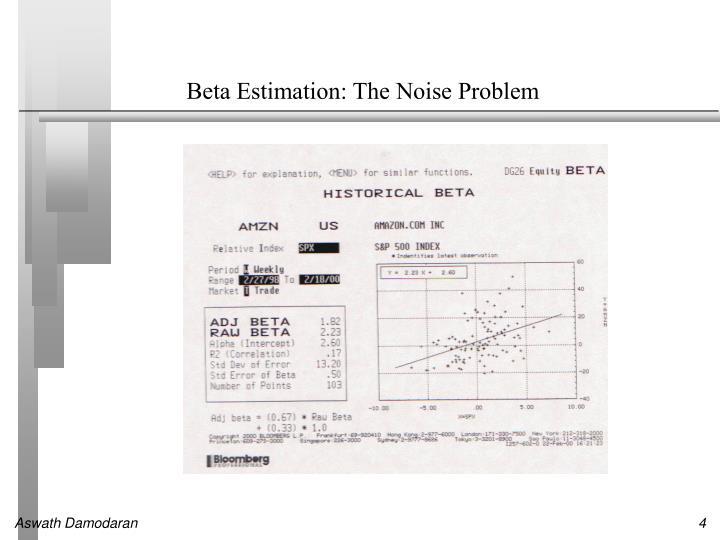 Beta Estimation: The Noise Problem