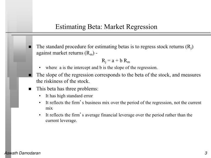 Estimating Beta: Market Regression
