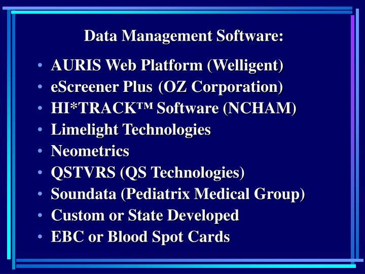 Data Management Software: