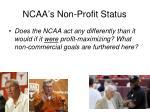 ncaa s non profit status
