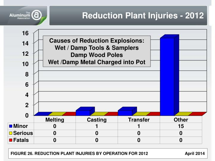 Reduction Plant Injuries - 2012