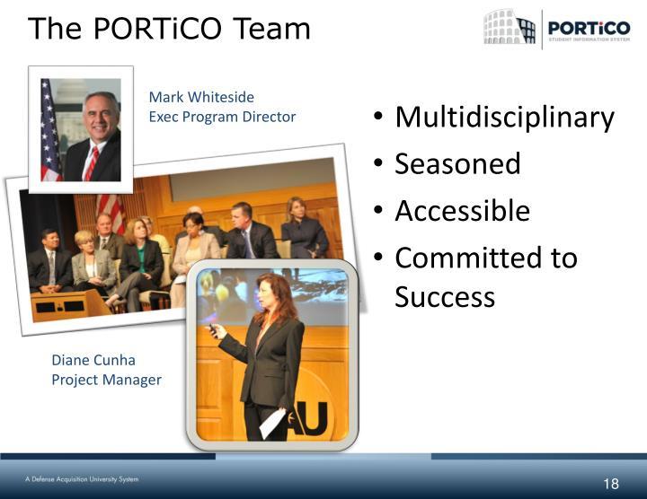 The PORTiCO Team