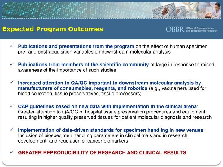 Expected Program Outcomes