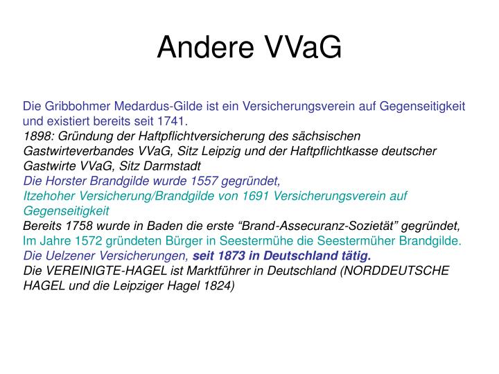 Andere VVaG