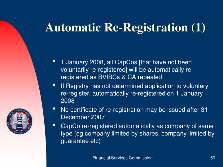 Automatic Re-Registration (1)