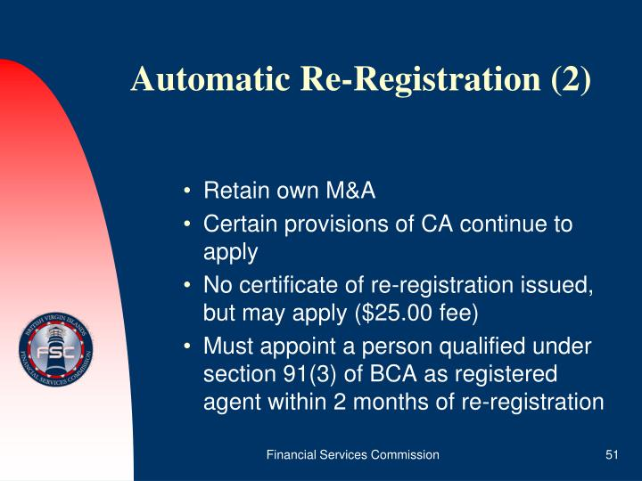 Automatic Re-Registration (2)