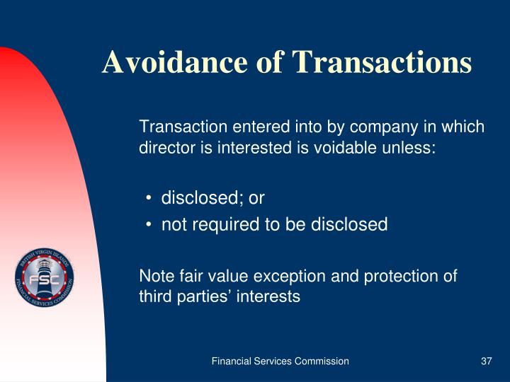 Avoidance of Transactions