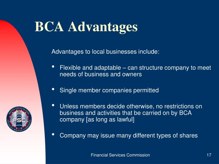 BCA Advantages