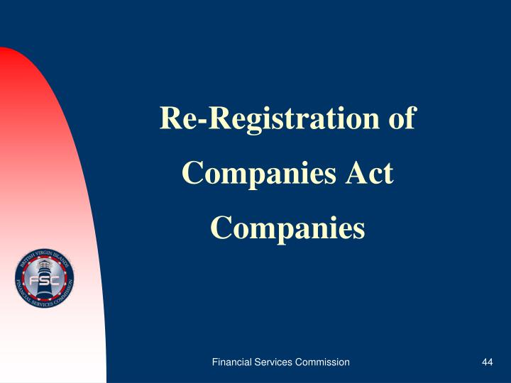 Re-Registration of