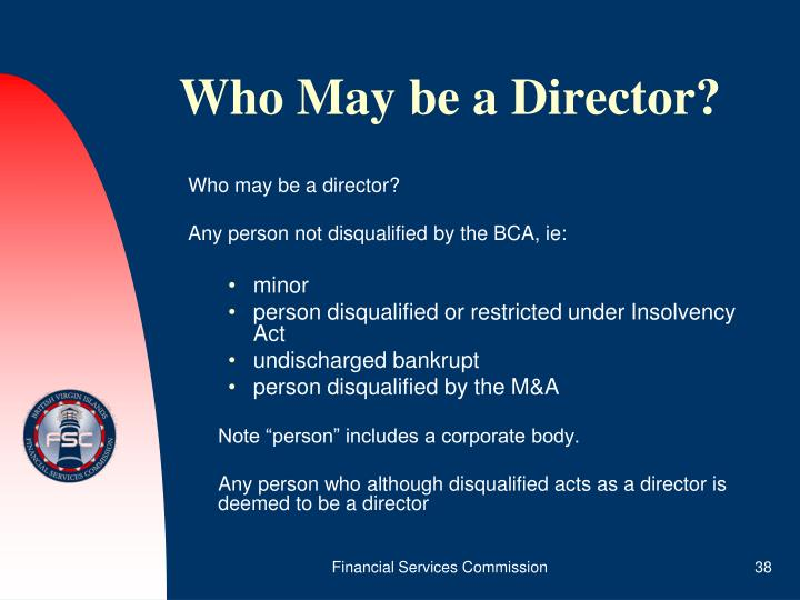 Who May be a Director?