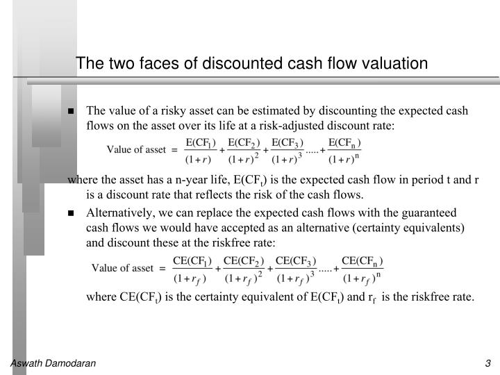 The two faces of discounted cash flow valuation