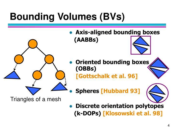 Bounding Volumes (BVs)