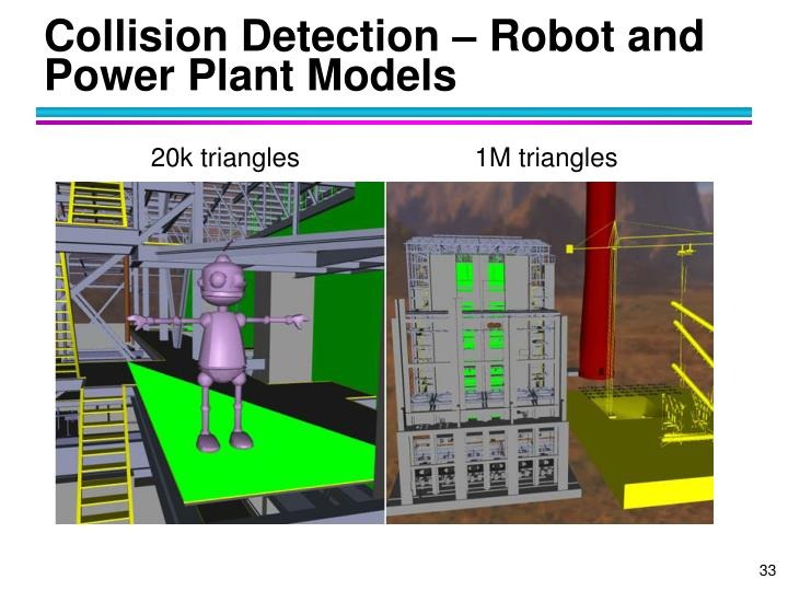 Collision Detection – Robot and Power Plant Models