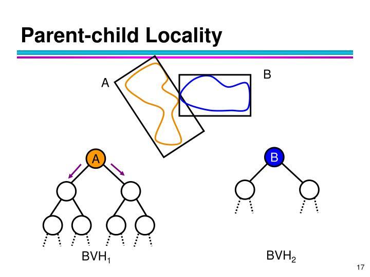 Parent-child Locality