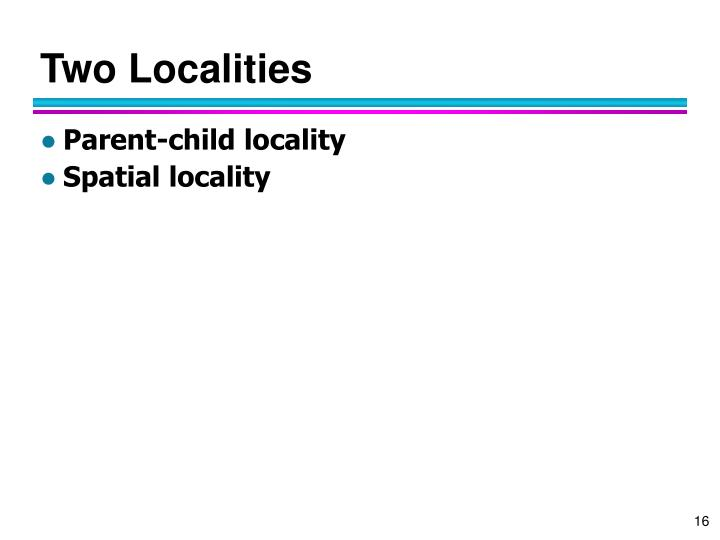 Two Localities