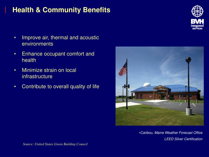 Health & Community Benefits