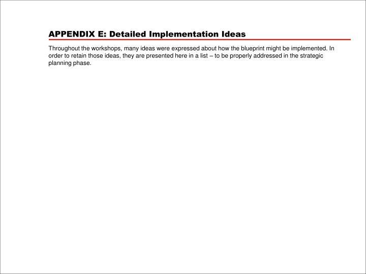APPENDIX E: Detailed Implementation Ideas