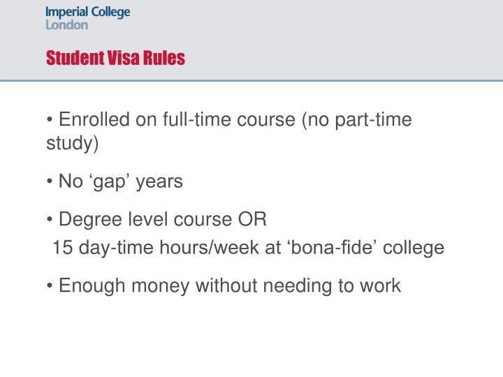 Student Visa Rules