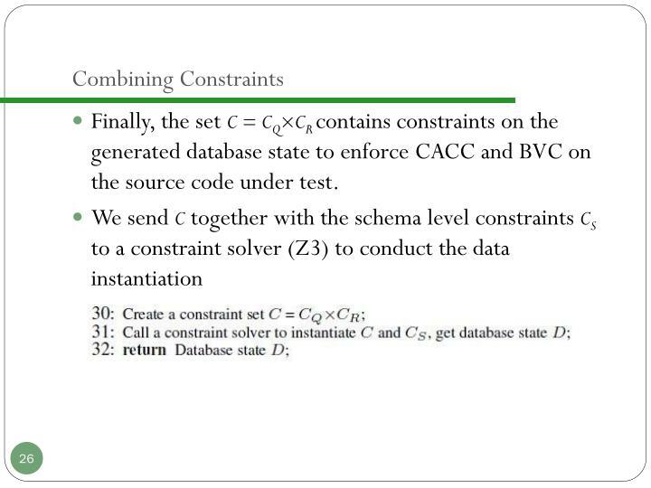 Combining Constraints