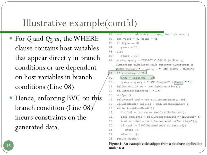 Illustrative example(cont'd)