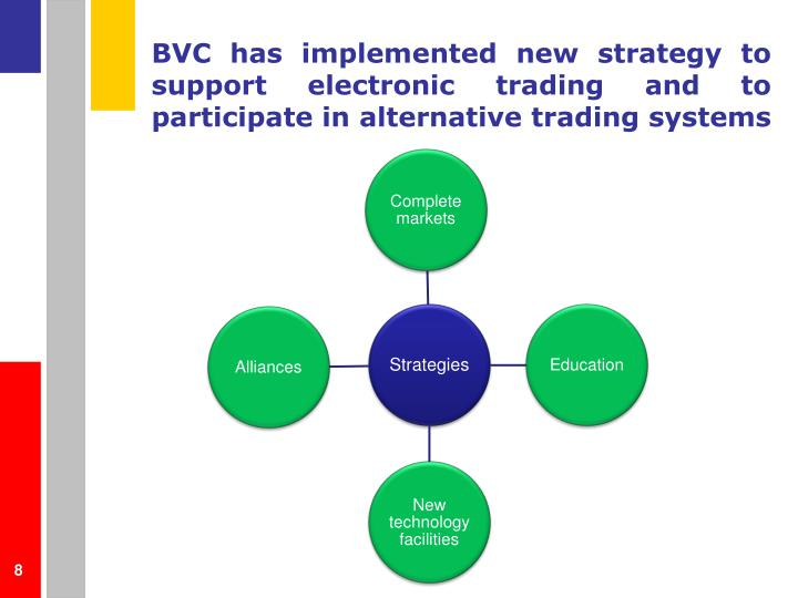 BVC has implemented new strategy to support electronic trading and to participate in alternative trading systems