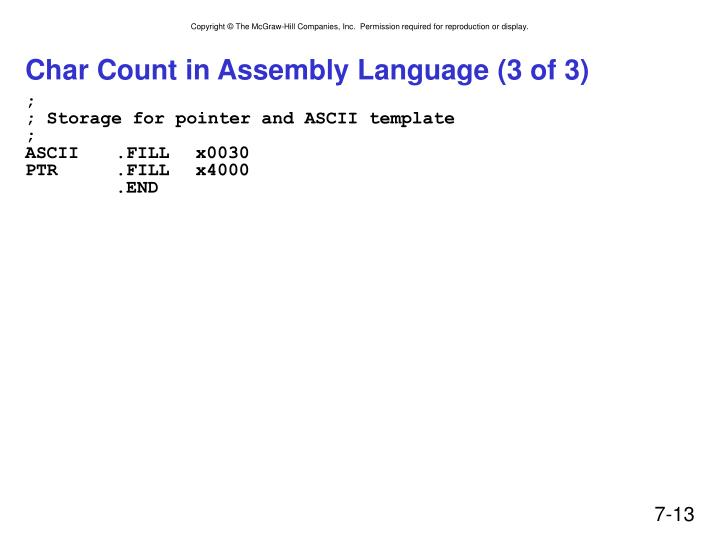 Char Count in Assembly Language (3 of 3)
