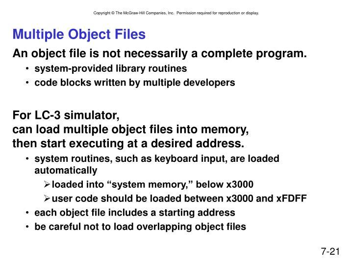 Multiple Object Files