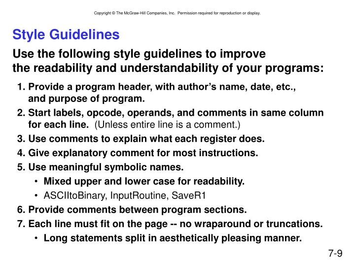 Style Guidelines